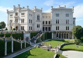 Miramare Castle with park in Trieste (Italy).