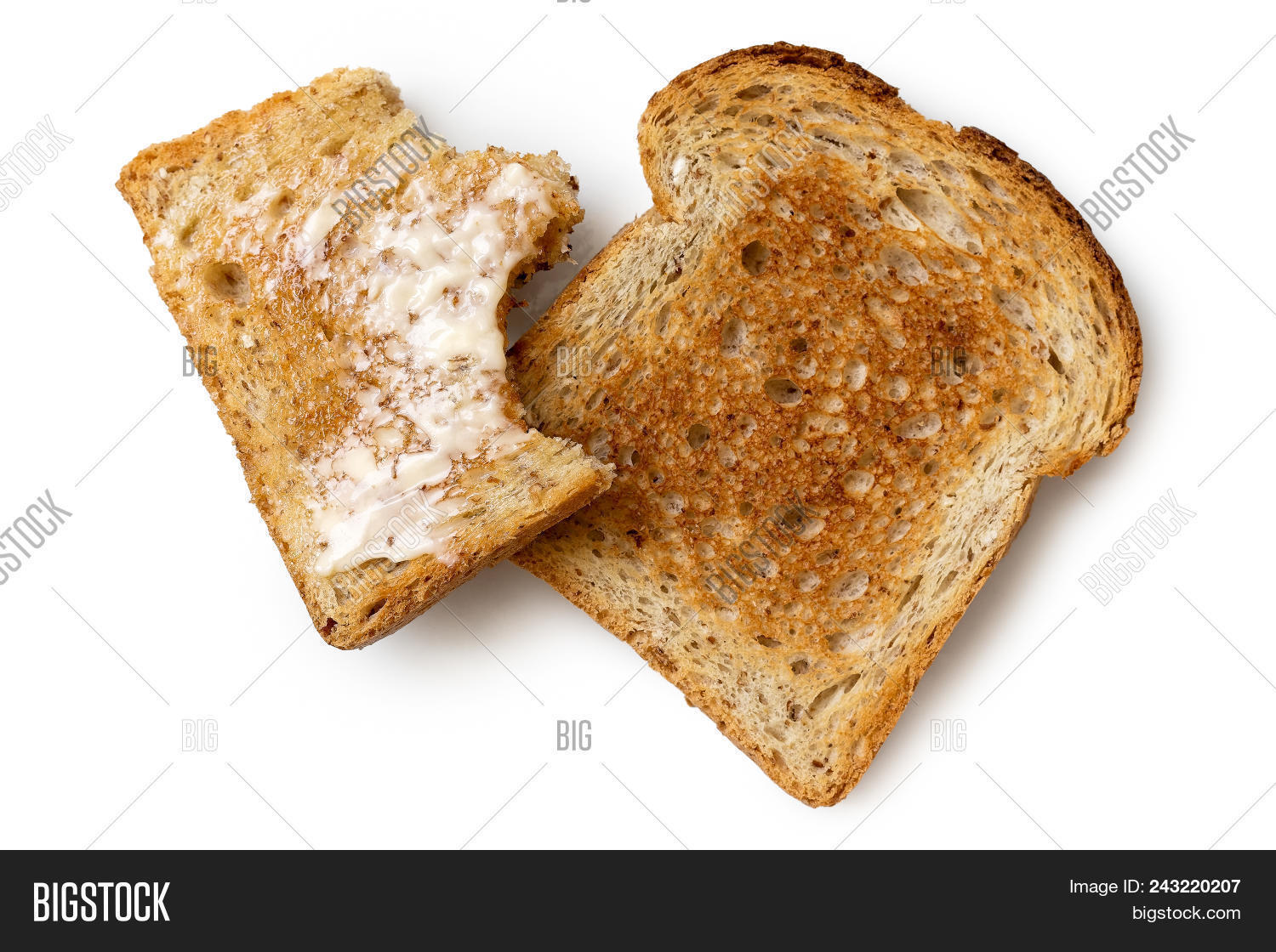 half eaten buttered image photo free trial bigstock