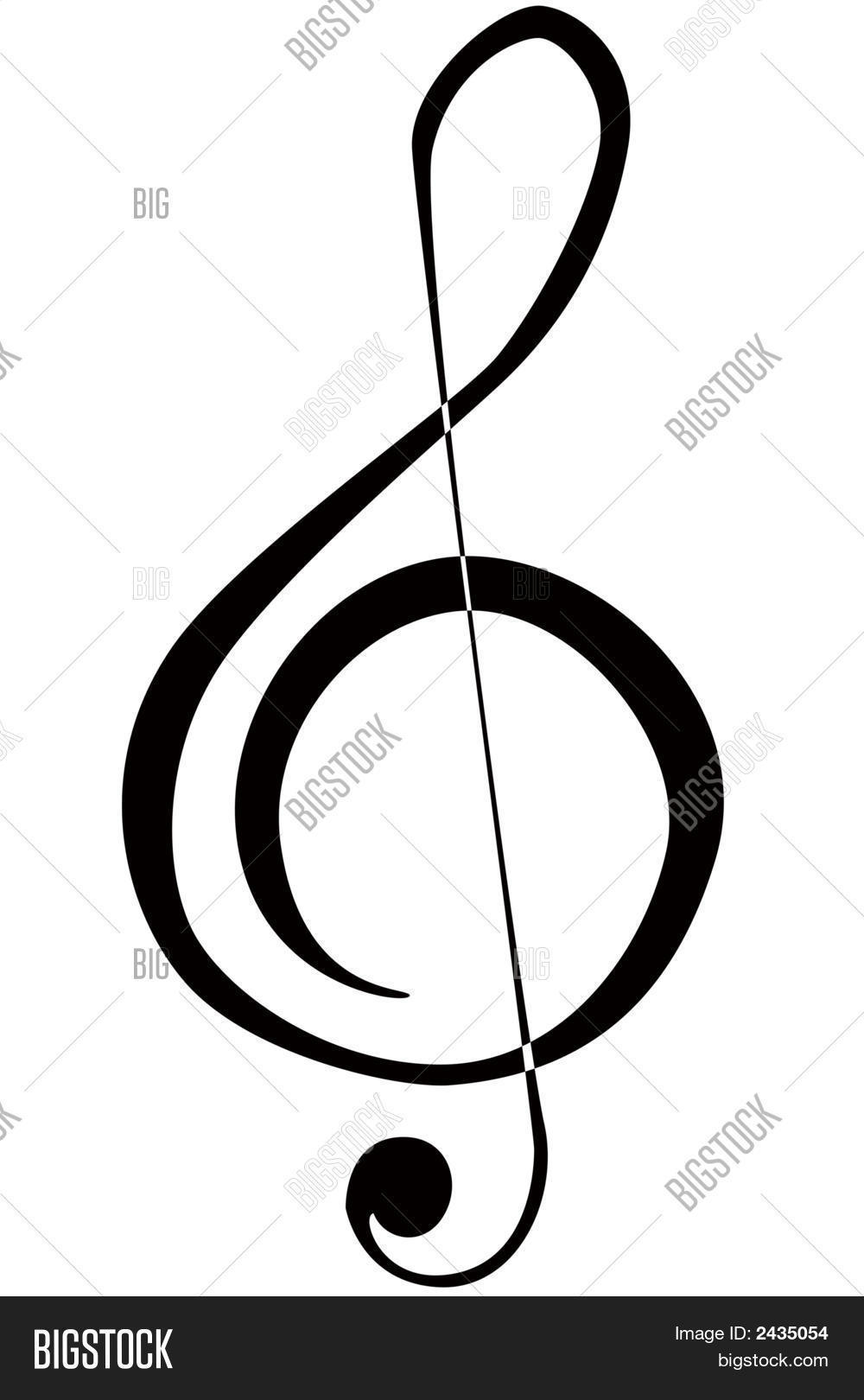 Treble Clef Image Photo Free Trial Bigstock