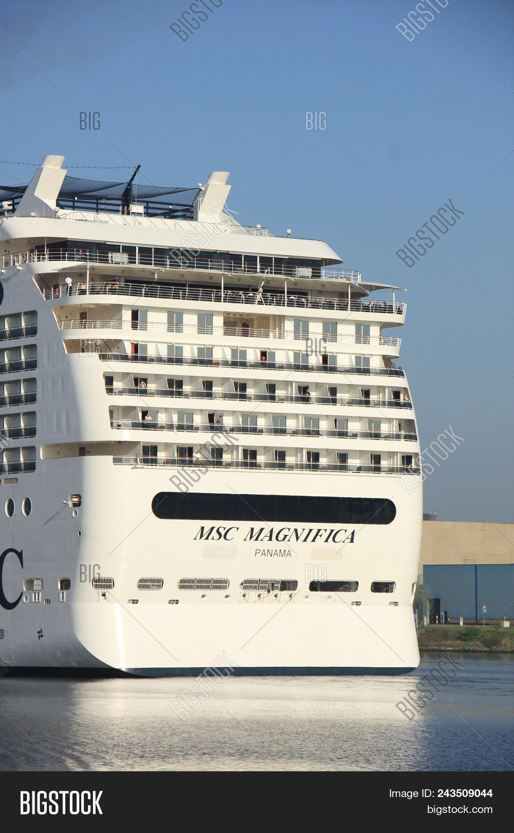 Velsen, The Netherlands - April, 20 2018  Msc Magnifica In North Sea Canal 687547ffe5