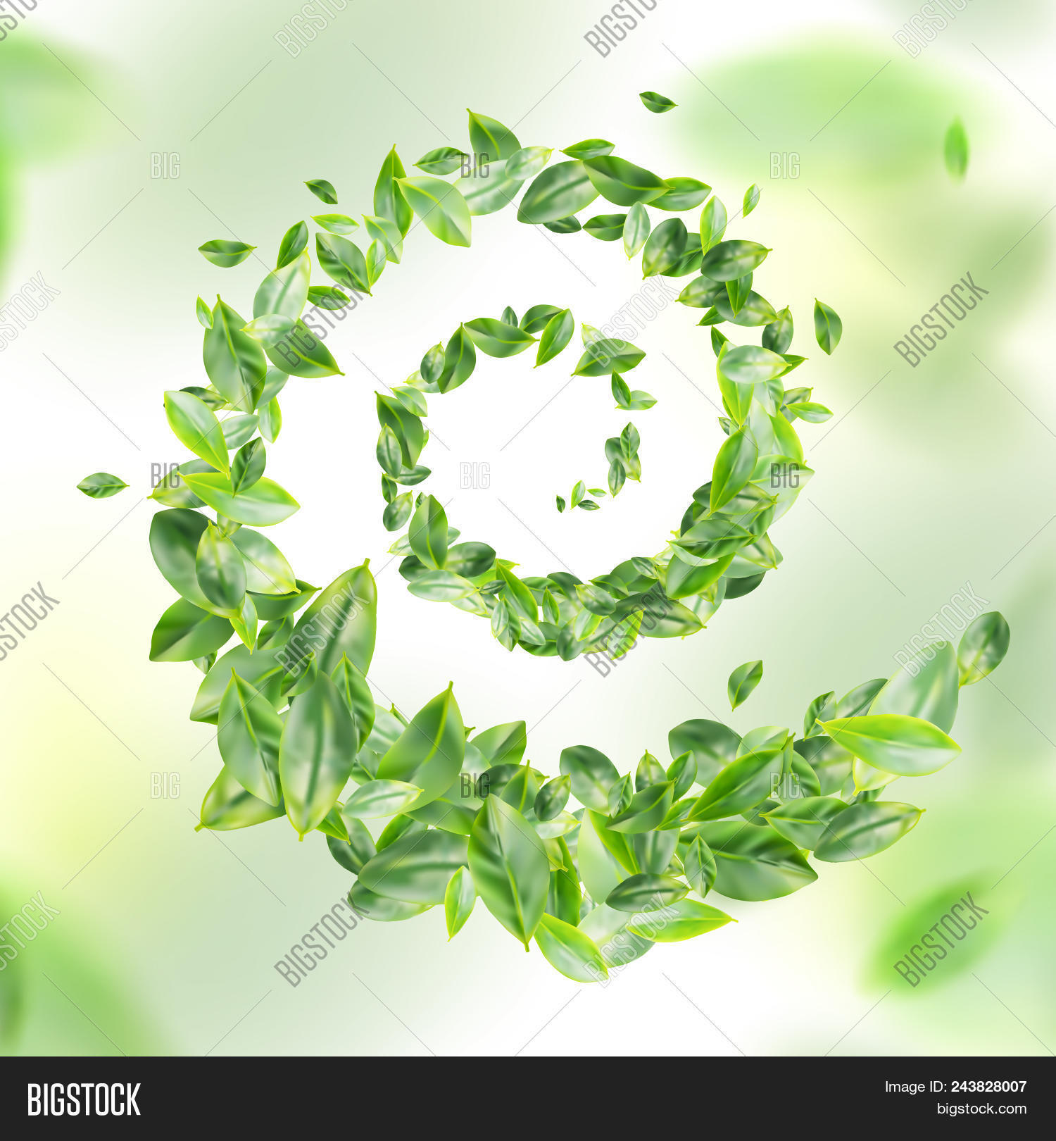 Green Leaf Raster 3d Image & Photo (Free Trial) | Bigstock