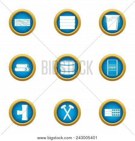 Groundwork Icons Set. Flat Set Of 9 Groundwork Vector Icons For Web Isolated On White Background
