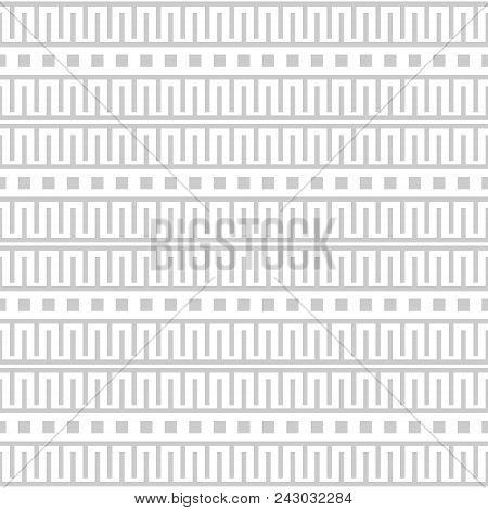 Simple Seamless Geometric Black And White Pattern. Ancient Greek Motifs Ornament
