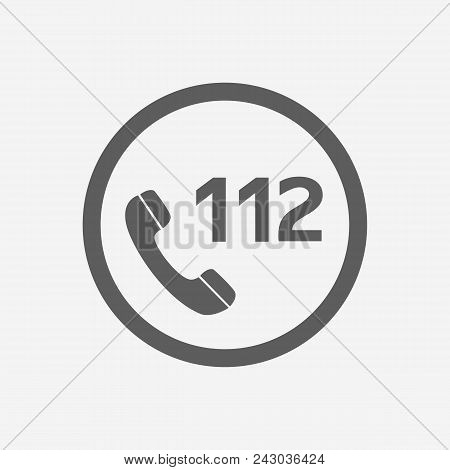 112 Emergency Call Vector Icon Illustration For Web And Mobile App Isolated White Backround.ui Ux Ep