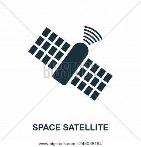 Space Satellite Icon. Flat Style Icon Design. Ui. Illustration Of Space Satellite Icon. Pictogram Is
