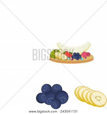 Dessert Fragrant Cartoon Icons In Set Collection For Design. Food And Sweetness Vector Symbol Stock