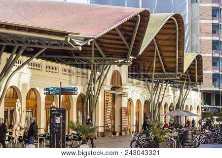 Barcelona, Spain - February 09, 2017  - Santa Caterina Market (barcelona, Spain) Mercado De Santa Ca