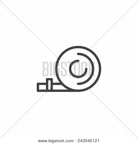 Party Blower Outline Icon. Linear Style Sign For Mobile Concept And Web Design. Popper Whistle Simpl