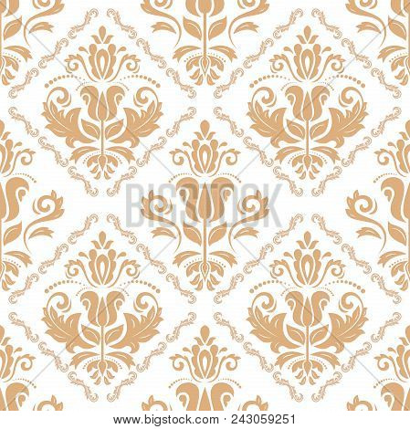 Classic Seamless Vector Pattern. Damask Orient Ornament. Classic Vintage Background. Orient Ornament