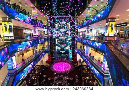 Shopping Center Mall Evropeyskiy, May 16, 2018 In Moscow, Russia