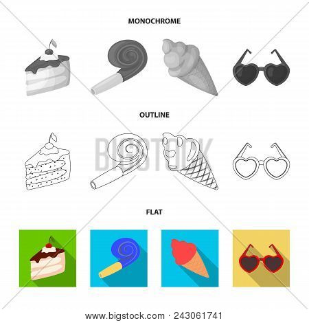 Refreshments And Other Accessories At The Party.party And Partits Set Collection Icons In Flat, Outl