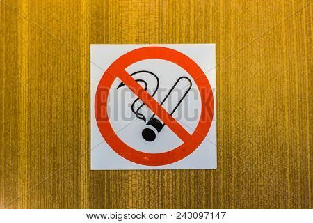 No Smoking Signage On The Wooden Wall