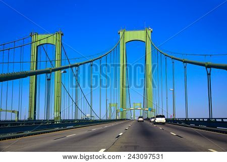 Delaware memorial bridge road in USA US