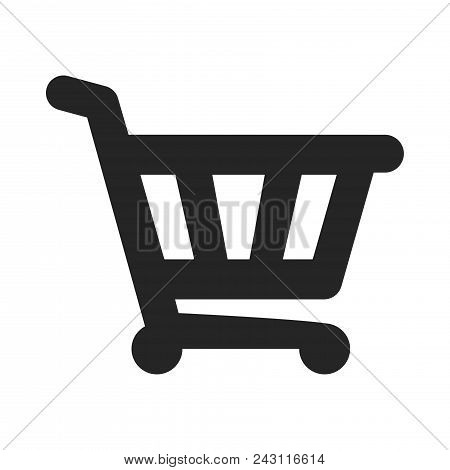 Shopping Cart Icon Simple Vector Sign And Modern Symbol. Shopping Cart Vector Icon Illustration, Edi