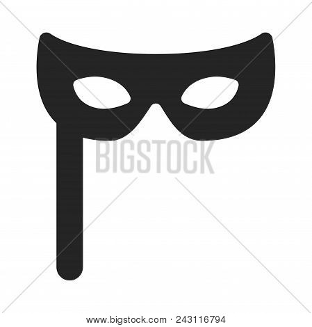 Carnival Mask Icon Simple Vector Sign And Modern Symbol. Carnival Mask Vector Icon Illustration, Edi