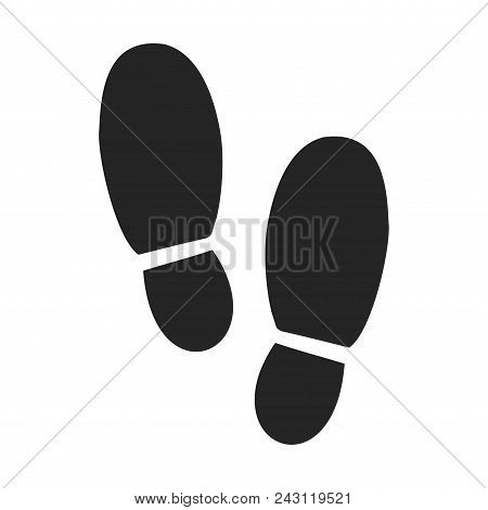 Footsteps Icon Simple Vector Sign And Modern Symbol. Footsteps Vector Icon Illustration, Editable St