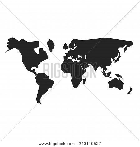 World Map Icon Simple Vector Sign And Modern Symbol. World Map Vector Icon Illustration, Editable St