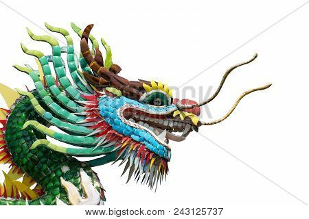 Dragon Chinese Style Isolated On White Background