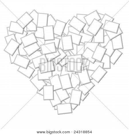 Photo Frame Heart Shape
