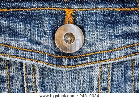 Photo of a pocket jeans with metallic button