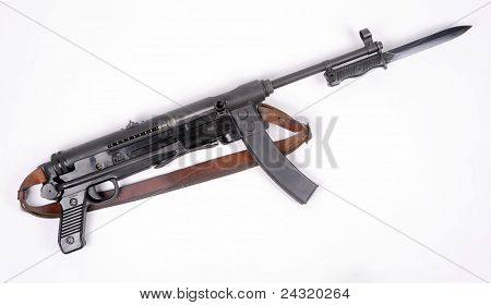 Yugoslav M56 SMG and bayonet