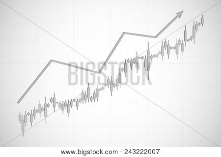 Economic Graph With Diagrams On The Stock Market. Abstract Vector Background For Business And Financ