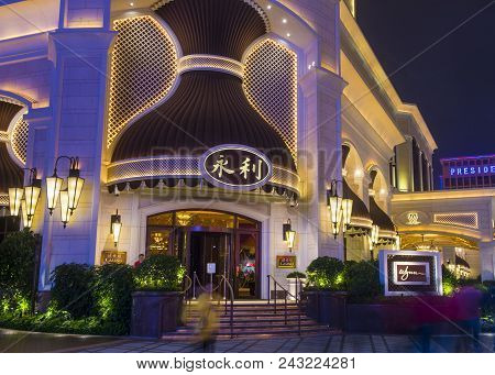 Macau - March 07 :  The Wynn Hotel And Casino In Macau On March 07 2018. The Hotel Has 594 Rooms And