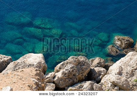 Mediterranean coast view