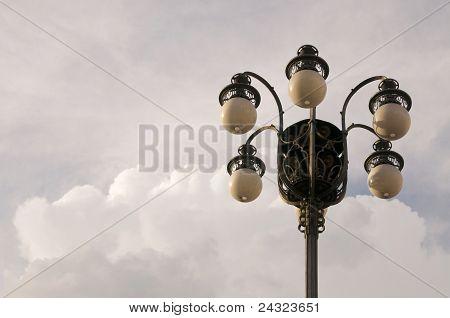 Lantern against sky