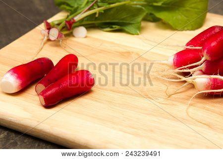 Fresh Radish A Bunch Of Freshly Picked Homegrown Radish