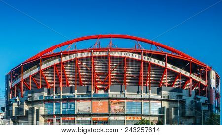 Lisbon, Portugal - May 31st, 2018: Outdoor Panorama Of Stadio Da Luz, In English Stadium Of Light, H