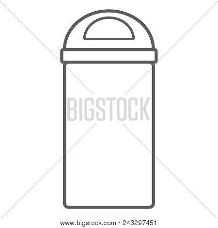 Garbage Icon. Waste Bin Icon. Flat Design, Linear Styles. Wastebasket. Container Bin Mixed Waste. Is