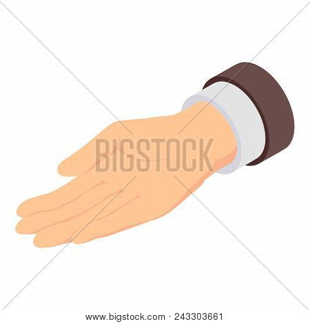 Give Hand Icon. Isometric Of Give Hand Vector Icon For Web Design Isolated On White Background