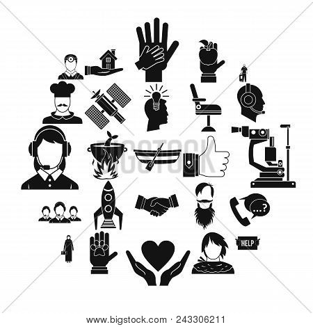 Human Resources Icons Set. Simple Set Of 25 Human Resources Vector Icons For Web Isolated On White B