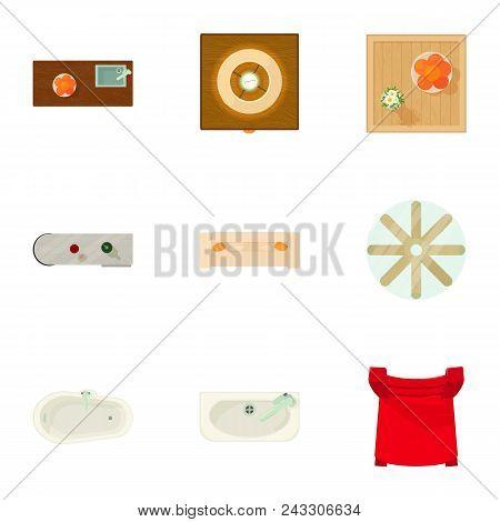 Safe Deposit Icons Set. Cartoon Set Of 9 Safe Deposit Vector Icons For Web Isolated On White Backgro