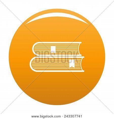 Book College Icon. Simple Illustration Of Book College Vector Icon For Any Design Orange