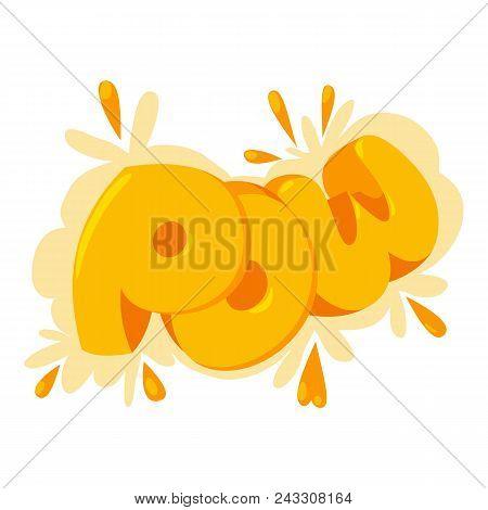 Pow Speech Bubble Icon. Isometric Of Pow Speech Bubble Vector Icon For Web Design Isolated On White