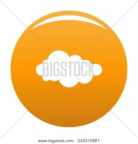 Formed Cloud Icon. Simple Illustration Of Formed Cloud Vector Icon For Any Design Orange