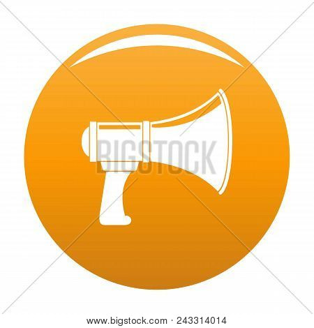Noise Of Megaphone Icon. Simple Illustration Of Noise Of Megaphone Vector Icon For Any Design Orange