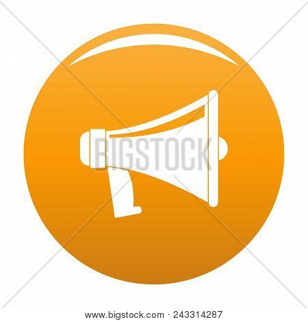 Antique Megaphone Icon. Flat Illustration Of Antique Megaphone Vector Icon For Any Design Orange