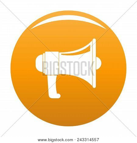 One Megaphone Icon. Simple Illustration Of One Megaphone Vector Icon For Any Design Orange
