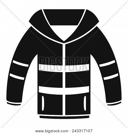 Winter Jacket Icon. Simple Illustration Of Winter Jacket Vector Icon For Web Design Isolated On Whit
