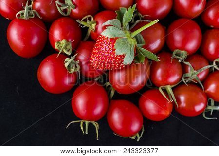 Do Not Judge Anything By Color, Have Different Aspects, Strawberry And Cherry Domates
