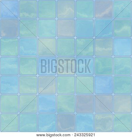 Light Blue Grid Cubic Squared Design Pattern Texture Background