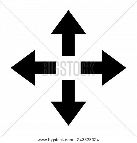Move Icon On White Background. Flat Style. Move Sign. Move Icon Arrow.