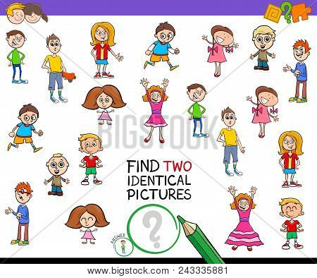 Find Two Identical Pictures Game For Kids