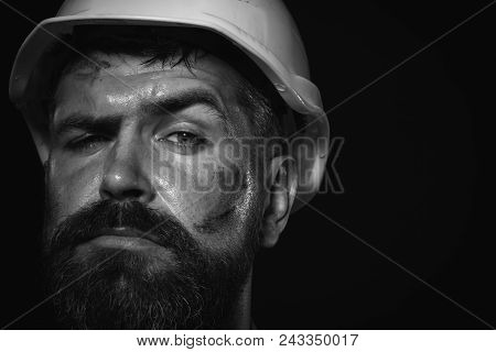 Architect, Worker, Engineer - Work. Close Up Engineers Working. Close Up Man In Suit With Constructi