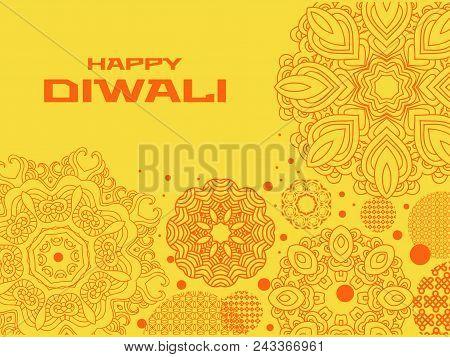 Traditional Indian Festival Diwali.festival Of Lights.template For Banner, Poster.festive Background