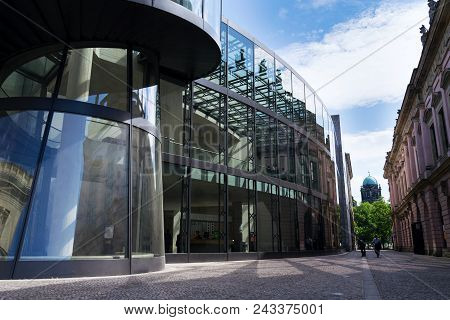 Berlin, Germany - May 15 2018: Zeughaus Wing Extension Of The German Historical Museum - Deutsches H