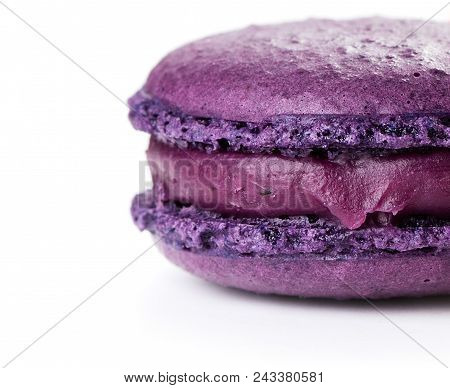Close-up View Of Macaroon Isolated On White Background